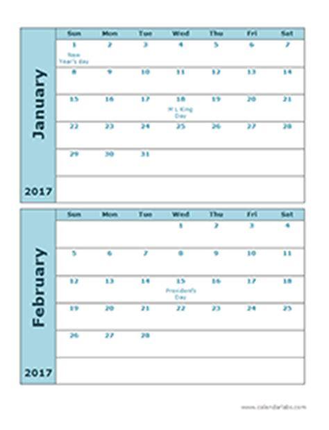 printable calendar booklet 2017 free 2017 monthly calendar templates download blank