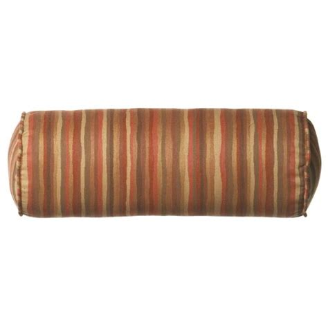 OutdoorIndoor Vibrant Tsunami Bolster Pillow Color: Rust