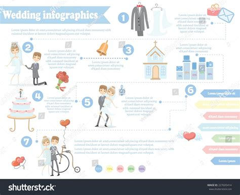wedding infographic template wedding infographics including template design elements