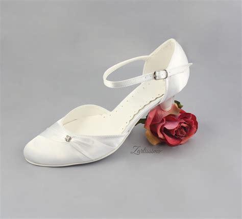 Brautschuhe Ivory Größe 42 by Brautschuhe Pumps Flach Hochzeit Nr 221 Weiss Ivory Gr 36