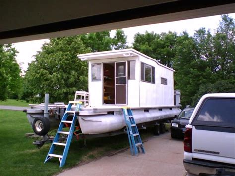 Cabin Pontoon Boat by Bamby Pontoon Houseboat Rebuild Done Pontoon Forum