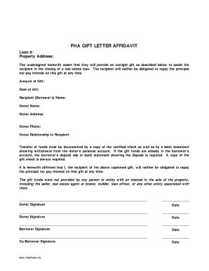 Gift Letter For Fha Loan Fha Gift Letter Docoments Ojazlink