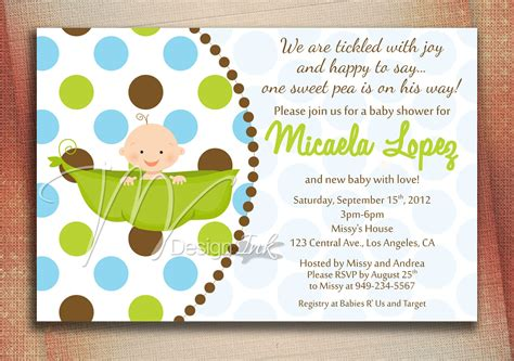 Baby Shower Invitations by Pea In A Pod Baby Shower Invitation Baby In A Pod By