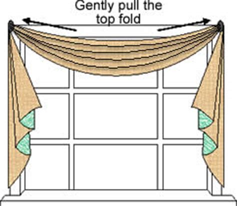 how to hang a drapery scarf scarf valance top treatments alternative windows