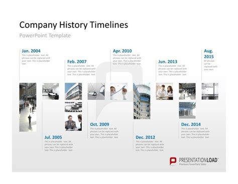 show  company history   timeline   powerpoint