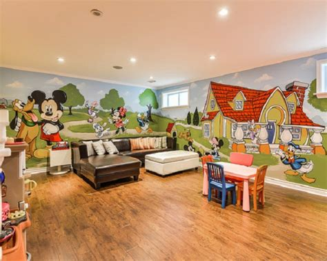 wall murals for playrooms mickey room ideas design dazzle