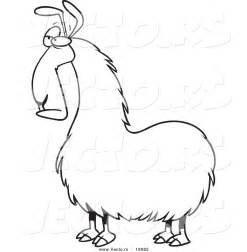 Llama Coloring Pages To Download And Print For Free sketch template