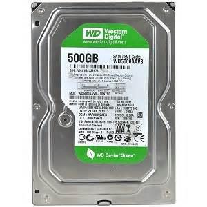 Disk Western Digital 500gb wd caviar wd5000aavs 500gb 7200rpm sata 3 0gbps 8mb cache 3 5 quot hdd