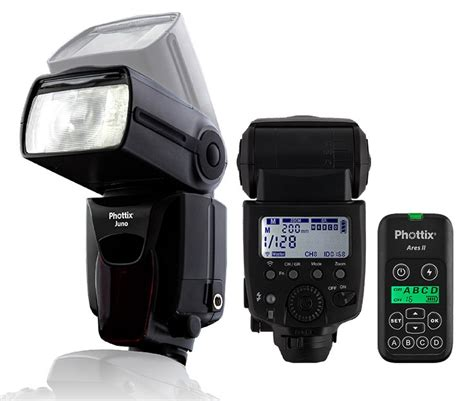 phottix juno transceiver flash and ares ii combos