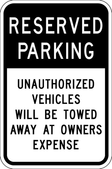 Parking and Traffic Control Sign - Reserved Parking ... W Car Logo Name