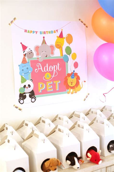 7 Themes For Your Childs Birthday by Pet Adoption Birthday Soiree