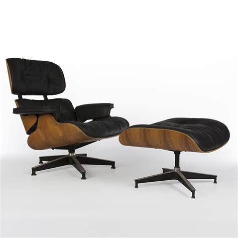 eames lounge chair and ottoman original original herman miller black and rosewood eames lounge