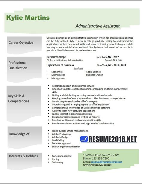 Resume Samples For Administrative Assistant Position administrative assistant resume examples 2018 resume 2018