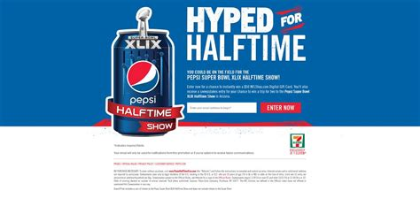 Pepsi Nfl Sweepstakes - pepsi hyped for nfl halftime sweepstakes pepsihalftimetrip com be on the field for