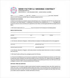 Dj Booking Contract Template by Dj Contract 8 Documents In Pdf