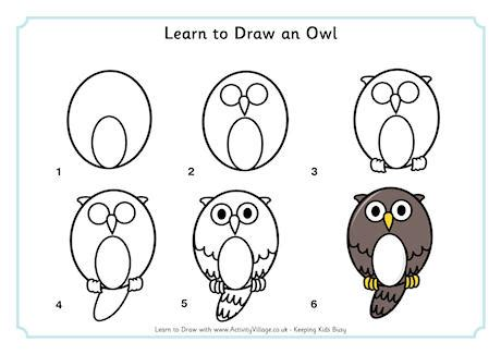 how to draw an owl learn to draw a cute colorful owl in learn to draw an owl