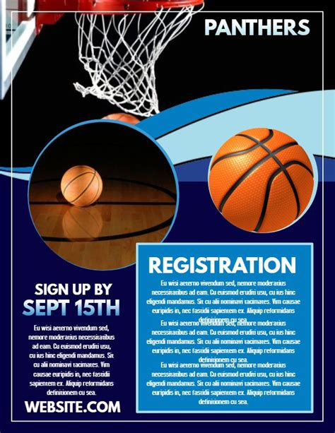 Basketball Tryouts Registration Poster Flyer Template Design Sports Poster Templates Basketball Tryout Flyer Template