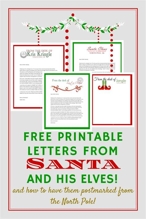 printable letter back from santa best 25 santa mail ideas on pinterest mail delivery
