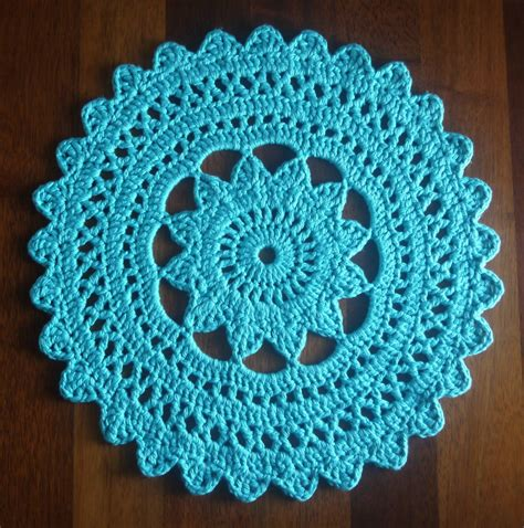 Crochet Rug Patterns by Circular Lace Pattern Crochet Doily Rug Felt