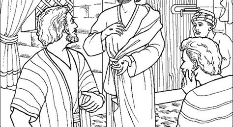 coloring page for doubting thomas jesus appears to thomas coloring page preschool pray
