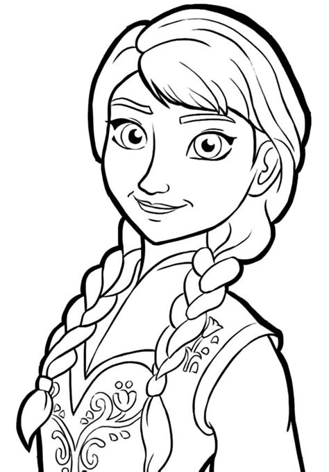 Disney Frozen Princess Anna Coloring Pages Best Place To Coloring Princess Frozen