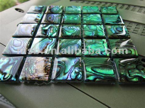 Abalone Shell Coating With Epoxy square cut thick shell moaic tiles epoxy resin coating paua abalone shell mosaic buy of