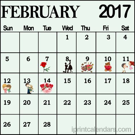 feb week celebrate your with designer february calendar