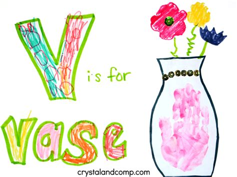 V Is For Vase by Print Letter V