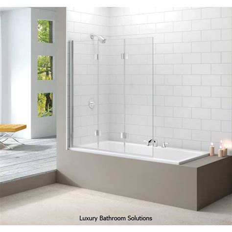 bathroom shower panel luxury small bathroom design merlyn luxury designer 3 panel folding bath screen