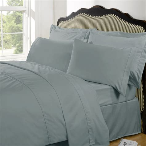 Plain Dye Bedding Sets Highams 100 Cotton Plain Dyed Bedding Set Duck Egg Iwoot