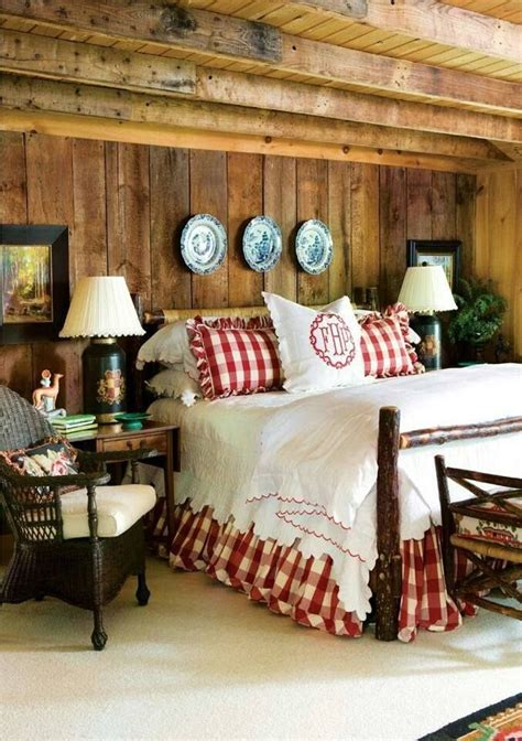 red country bedroom country gingham shams and bed skirt in red fun way to