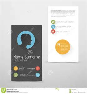 Portrait Business Card Template by Modern Vertical Business Card Template With Flat User