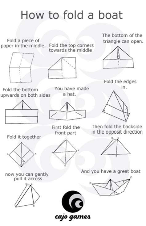 Easy Steps To Make A Paper Boat - rainy day ideas for the