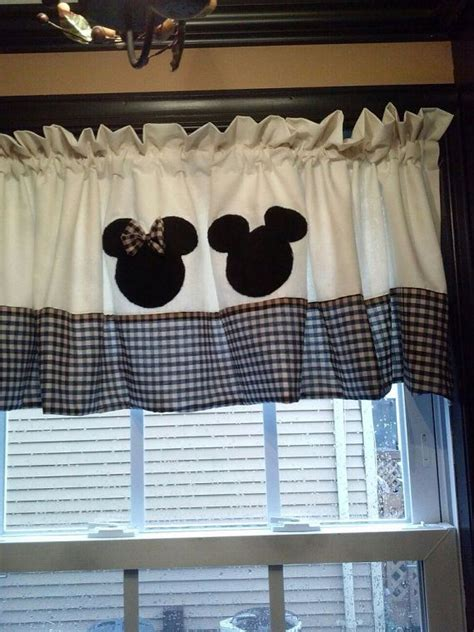 mickey and minnie mouse black and white polka dot curtain