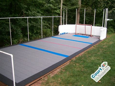 backyard roller hockey rink backyard hockey rink contemporary home gym