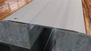 tapered surface mount floor expansion joint 1 8 quot cs