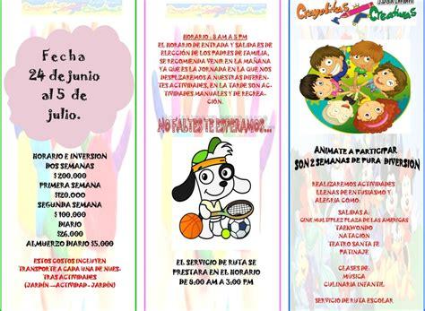 imagenes para vacaciones recreativas vacaciones recreativas jardin infantil crayolitas creativas