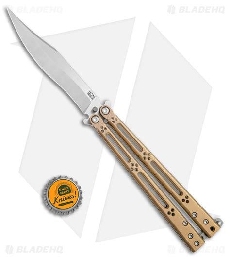 hom designs hom design basilisk r titanium balisong butterfly knife