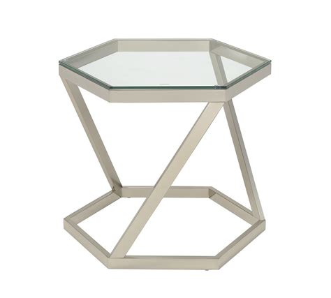 coaster furniture end tables coaster 704007 end table nickel 704007 at homelement com