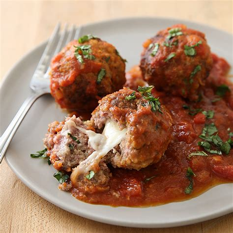 America S Test Kitchen Meatballs by Stuffed Meatballs With Marinara Cook S Country
