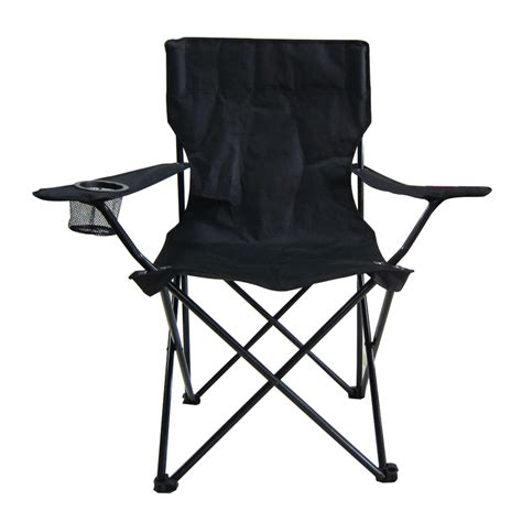 Shop Garden Treasures Black Steel Camping Chair at Lowes.com