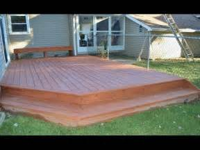 Concrete Benches Lowes How To Build A Ground Level Deck Youtube