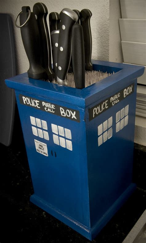 Cool Knife Block by Best Wedding Gift Ever Handmade Tardis Knife Block Is