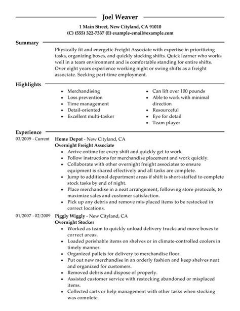 Resume Sles Warehouse Stock Associate Resume The Best Letter Sle