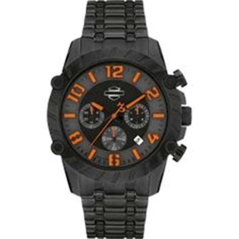 Harley Davidson Chronograph Leather Brd For mens harley davidson stainless steel bar shield by