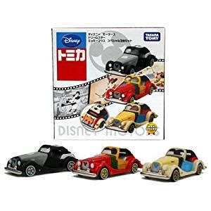 Tomica Disney Mickey Gold disney tomica disney motors mickey mouse special set 3 car set takara