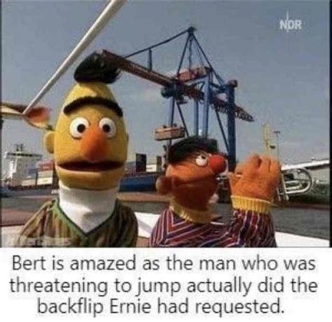 Bert Is Amazed As The Man Who Was Threatening To Jump