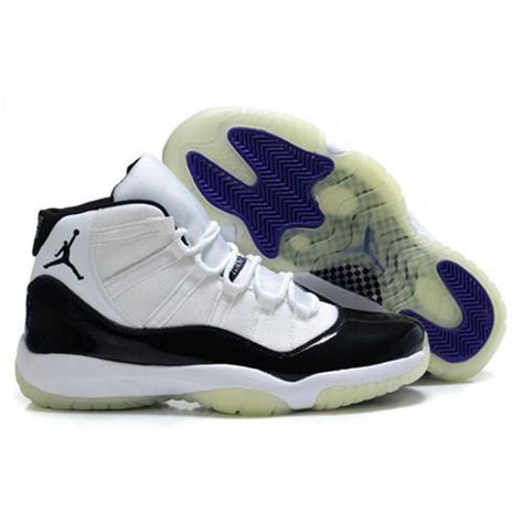 white jordans shoes air 11 air sole low black blue black white jordans
