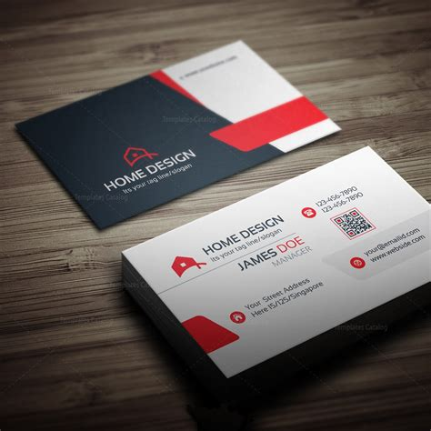 home design business card template 000258 template catalog