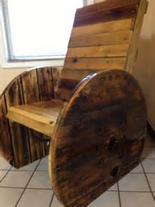 Wooden Spool Chair by Pallet Wood Cable Reel Chair Tuin